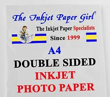 A4 240g Double Sided Gloss/Matte Photo Inkjet Paper 2 sheet SAMPLE PACK