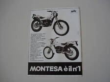 advertising Pubblicità 1981 MONTESA COTA 349/123 TRIAL