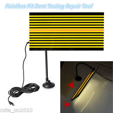 AUTO Body Paintless Pit Dent Testing Repair Tool Kit Led Line Board Light Lamp