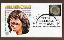SOLAR ECLISPE STAMP~ GLEN CACHET #1  FIRST DAY COVER ~ PICTORIAL CANCEL 2017