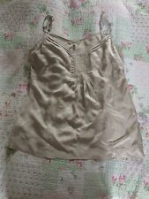 Tried On Once SANDWICH Ladies Top-size 40. Ivory/ Beige Colour