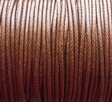 5 M 2mm braune Polyester Kordel gewachst Schnur Schmuck Perlenschnur 0,22€/m