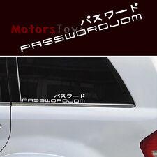 (1) Hot Hellaflush Japanese Kanji JDM Windshield Body Vinyl Car Sticker Decal