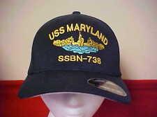 USS Maryland SSBN - 738 official Flexfit command ball cap for Officer L/XL