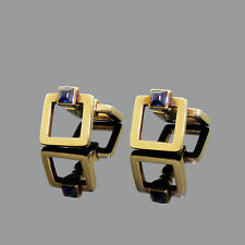 14k Gold Stirrup Sapphire Cabochon Cufflinks Purchased From Cartier Please Read