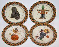 WONDERFUL SET OF 4 SAKURA DEBBIE MUMM HALLOWEEN SALAD/DESSERT PLATES IN BOX