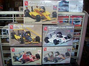 indy cars,penske,kraco,pennzoil,lola,dominos,kmart,special,1/25,cart,lot of 5