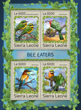 Sierra Leone 2016 MNH Bee Eaters Bee-Eaters Bee-Eater 4v M/S Birds Stamps