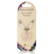 PINK ROSE QUARTZ AMORE CUORE CRYSTAL Chip & Charm Natures REGALO COLLANA GEM