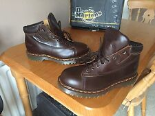 Vintage Dr Martens 9145 monkey Brown leather 939 boots UK 7 EU 41 England