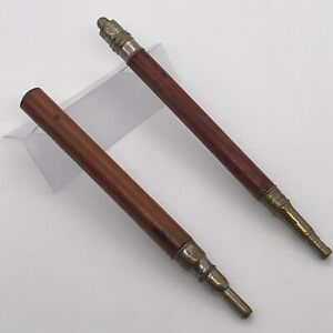 Nice Vintage Rare S. Perry & Co Propelling Pencil Pens x 2-Wood Stemmed