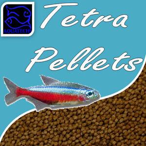Aquatechs tetra fish pellets fishfood premium ornamental pellet feed for tetras