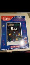 New listing Peanuts Silent Night Snoopy J. &P. Coats Latch Hook Kit #25074 20X30 Nib Sealed