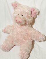 "Aurora Pink Plush Pig Stuffed Animal Soft Toy 14"" Floppy Soft Plush Stuffed Gift"