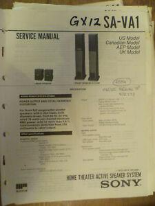 Sony SA-VA1  Active Sub Woofer Original Service Manual