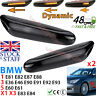 BMW Dynamic Sequential Smoked LED Side Indicator Lense x2 E90 E92 E60 LUXFACTORY
