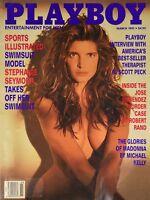 Playboy magazine March 1991 Stephanie Seymour Julie Clarke NEAR MINT