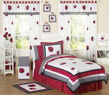 Jojo Cheap Red White Lady Bug Polka Dot Girls Kids Full Queen Sized Bedding Set