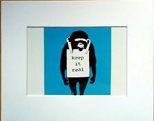 Banksy Print - Keep It Real monkey - Street Art Graffiti Stencil 5 x 7