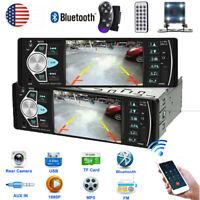 4.1'' 1DIN Car HD Single Radio Stereo MP5 Player Bluetooth AUX USB FM +Camera US