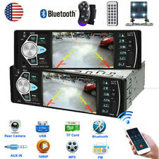 4.1'' 1DIN Car HD Single Radio Stereo MP5 Player Bluetooth AUX USB FM +Camera US