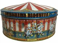 Vintage Sunshine Biscuit Collectible Embossed Carousel Gift Circus Tin England