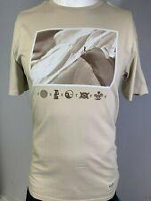 "New Burton ""Make Tracks on the Mtn"" Men's Short Sleeve T-Shirt, Tan, 2XL"