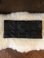 Sorpresa  BLACK SOFT  leather clutch Purse