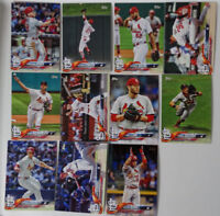 2018 Topps Series 1 St. Louis Cardinals Team Set of 11 Baseball Cards