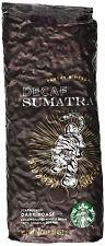 Starbucks Decaf Sumatra Dark Roast Whole Bean coffee, 1LB bag, Case of 6, 6/2020