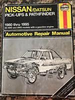 Haynes Automotive Repair Manual Nissan/Datsun Pickups & Pathfinder 1980-1994