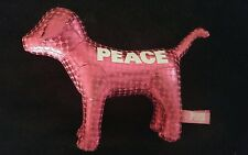 Victoria secret pink dog plush polka dots metallic 2009 peace stuffed animal vs