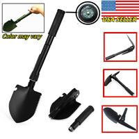 Foldable Compact Camping Shovel, Bottle Opener, Compass, & Saw Survival Tool-USA