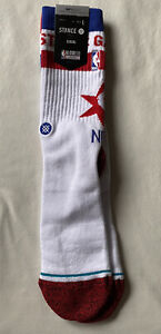 STANCE NBA ALL-STAR CHICAGO 2020 CREW SOCKS SIZE L (9-13) $20 RETAIL RED/BLUE