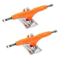 "Gullwing Pro III 9"" inch Orange Silver Truck Skate Trucks Pair"