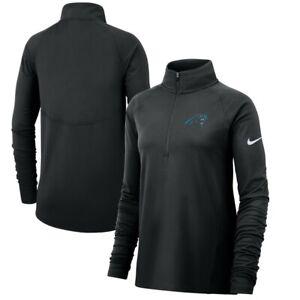 Nike Women's Carolina Panthers Blk Slim Fit Performance Half Zip Jacket L XL XXL