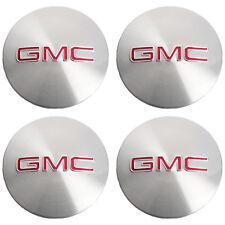 OEM NEW Wheel Hub Center Cap Set of 4 w/ Red GMC Logo 07-16 Acadia 9597360