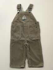JANIE AND JACK Seafaring Style Corduroy Ship Overalls Size 12-18 Months