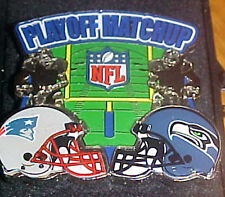NEW ENGLAND PATRIOTS VS SEATTLE SEAHAWKS SUPER BOWL 49 XLIX Playoff Matchup Pin