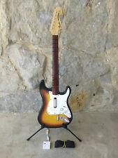 Wii Rock Band Fender 2 Starburst Strato Guitar Controller and Dongle