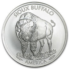 2015 1 oz Silver Native American Mint $1 Sioux Indian BU - SKU #89108
