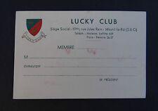 Ancienne carte de visite LUCKY CLUB Mesnil le Roi Chance Gluck