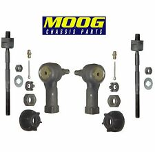 For Chrysler Dodge Mitsubishi Set of 2 Front Inner & Outer Tie Rod Ends Moog