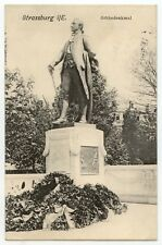 AK Strasbourg, Bas-Rhin, Strassburg, Goethedenkmal, 1906