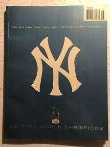 2001 NEW YORK YANKEES Yearbook WORLD Champions DEREK JETER Free Shipping