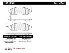 Disc Brake Pad Set-C-TEK Ceramic Brake Pads Front Centric 103.10940