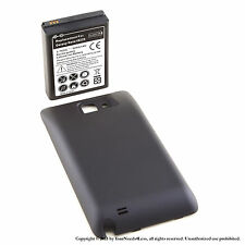 5000mAh Extended Battery for Galaxy Note GT-N7000 Black Cover