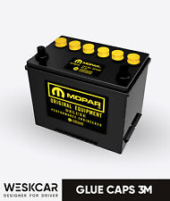 Mopar Battery S24MY yellow (1966-74) Glue Caps kit