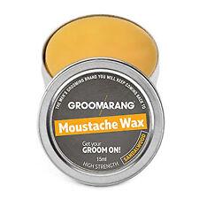 Groomarang Moustache & Beard Wax Extra Strong Sandalwood 100 Natural Hair