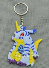 Digimon Gabumon Rubber Keychain 3 Inches Double Sided US Seller